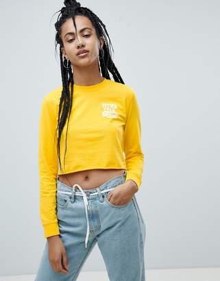 Vans Yellow Long Sleeve T-Shirt With Raw Hem