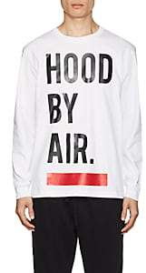 Hood by Air MEN'S LOGO COTTON LONG-SLEEVE T-SHIRT - WHITE SIZE XL