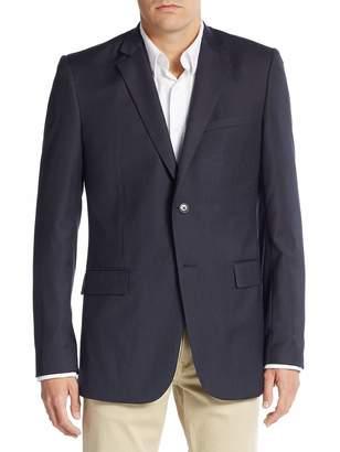 Theory Men's Regular-Fit Navy Stripe Blazer