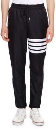 Thom Browne 4-Bar Striped Track Pants, Navy
