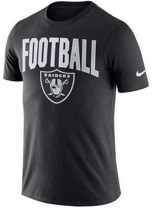 Nike Men Oakland Raiders Dri-Fit Cotton Football All T-Shirt