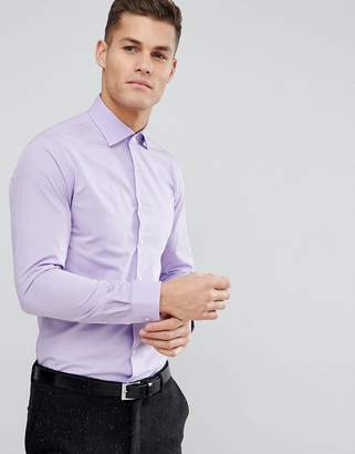 Michael Kors Slim Easy Iron Smart Shirt In Lilac