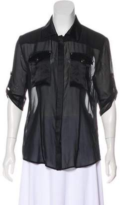 Pierre Balmain Semi-Sheer Top