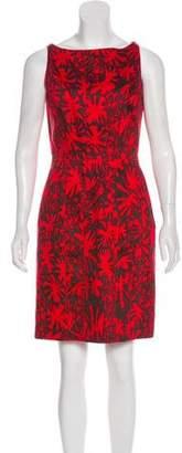 Oscar de la Renta Sleeveless Printed Dress