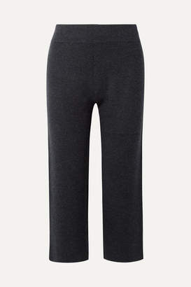 Le Kasha India Cropped Cashmere Wide-leg Pants