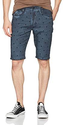 Buffalo David Bitton Men's Parker-x Slim Fit Sprayed Wash Fashion Denim Short