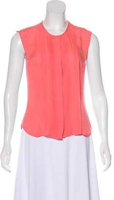 Veronica Beard Sleeveless Button-Down Top