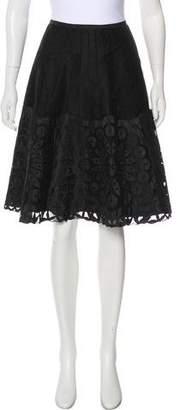 Armani Collezioni Silk Knee-Length Skirt w/ Tags