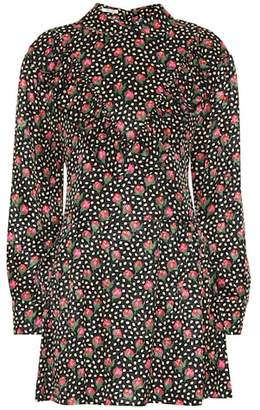 Miu Miu Floral-printed silk minidress