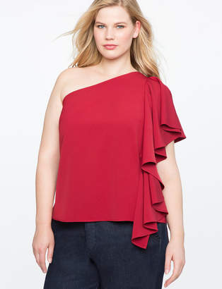 ELOQUII Cascade One Shoulder Top