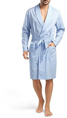 Hanro Ryan Chambray Woven Robe, Blue $258 thestylecure.com