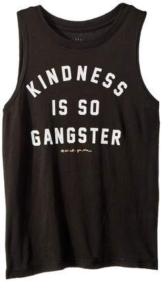 Spiritual Gangster Kids Kindness is Gangster Muscle Girl's Clothing