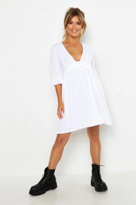 24f676ff849f7 boohoo White Smocked Dresses - ShopStyle UK