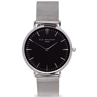 Beaumont Elie Oxford Large Silver Black Dial Mesh