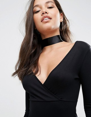 ASOS Basic Wide Satin Choker Necklace $9.50 thestylecure.com