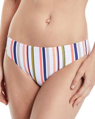 Splendid Line Up Retro Striped Hipster Swim Bikini Bottoms
