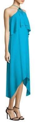 Trina Turk Botanical Silk Chiffon Halter Dress