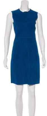 Celine Suede Sheath Dress