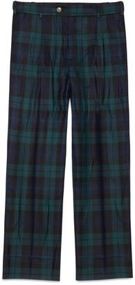 Washed wool tartan pajama pant $850 thestylecure.com