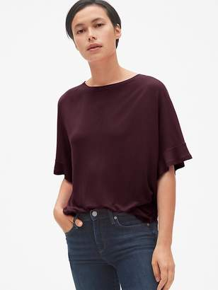 Gap Drapey Flutter Sleeve T-Shirt