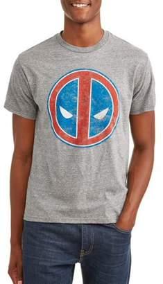 Americana Super Heroes & Villains Marvel Deadpool Logo Men's Graphic T-shirt