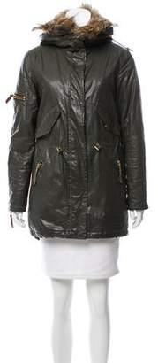 SAM. Fur-Trimmed Zip-Up Jacket
