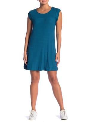 GOOD LUCK GEM Cap Sleeve Rib Knit Dress