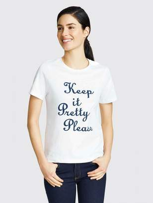 Draper James Keep It Pretty Please Tee
