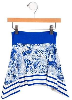 Junior Gaultier Girls' Sabina Printed Skirt w/ Tags