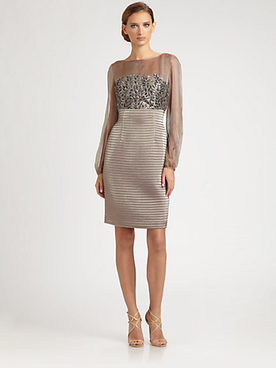 Kay Unger Jeweled Bodice Dress