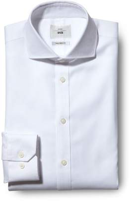Mens Moss 1851 Tailored Fit White Single Cuff Zero Iron Shirt