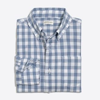 J.Crew Boys' long-sleeve flex patterned washed shirt