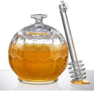 Prodyne HONEY PLEASE Acrylic Honey Jar with Dripper