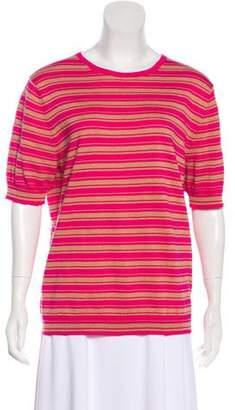 Dries Van Noten Striped Short Sleeve Top