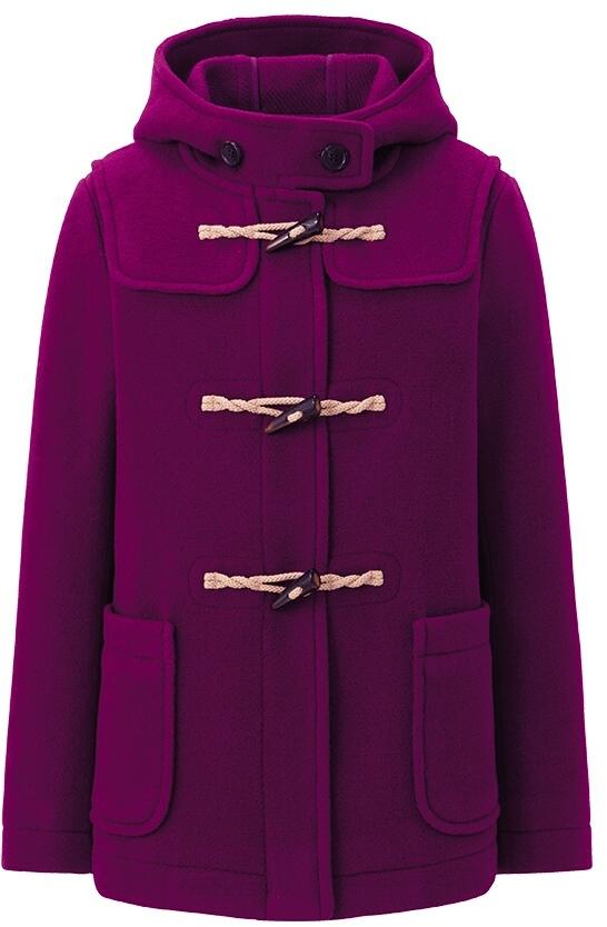 Women Wool Blended Short Duffel Coat