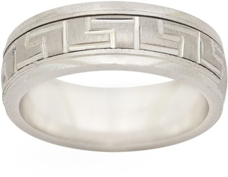 Artisan Crafted Sterling Greek Spinner Band Ring