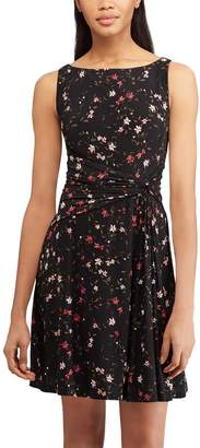 Chaps Women's Floral Gathered-Waist Fit & Flare Dress