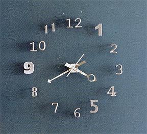 Roost Numero Wall Clock