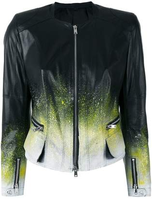 Sylvie Schimmel ink splatter jacket