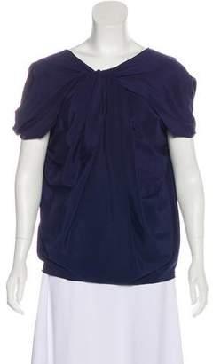 Emporio Armani Silk Draped Top