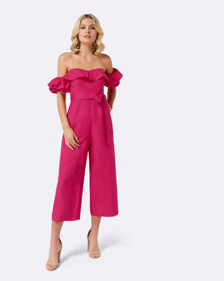 Bardot Petite Brandy Linen Jumpsuit