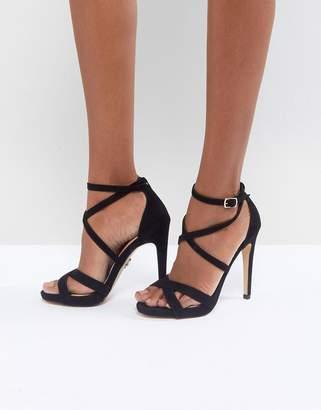Lipsy Platform Sandal with Cross Strap Detail