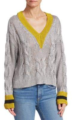 Rag & Bone Emma Cropped Color Block Sweater