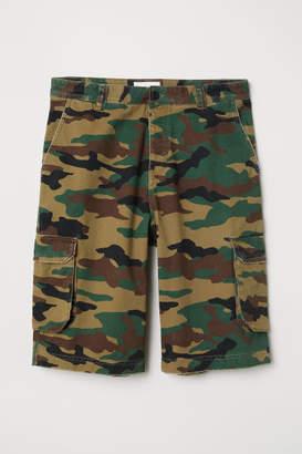 H&M Cotton Cargo Shorts - Beige
