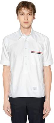 Thom Browne Cotton Oxford Shirt W/ Printed Pocket