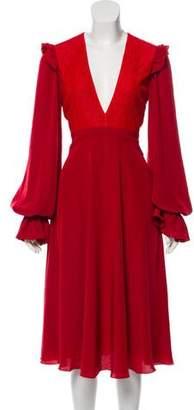 Philosophy di Lorenzo Serafini V-Neck Midi Dress