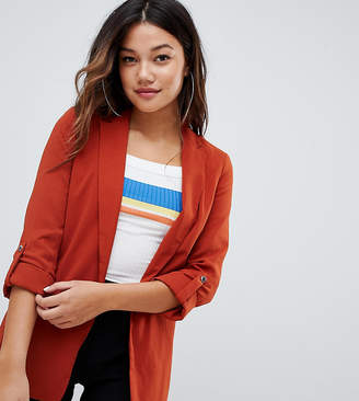 Bershka blazer in rust