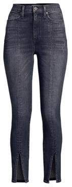 Alice + Olivia AO.LA by Good Split Hem Skinny Jeans