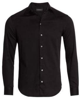 Giorgio Armani Classic Cotton Button-Down Shirt