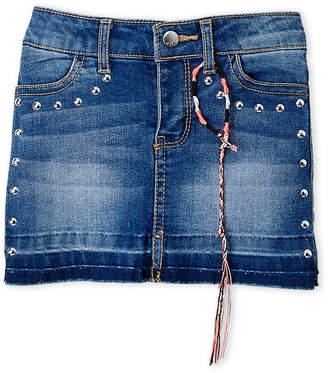 DKNY Girls 4-6x) Release Hem Studded Denim Skirt